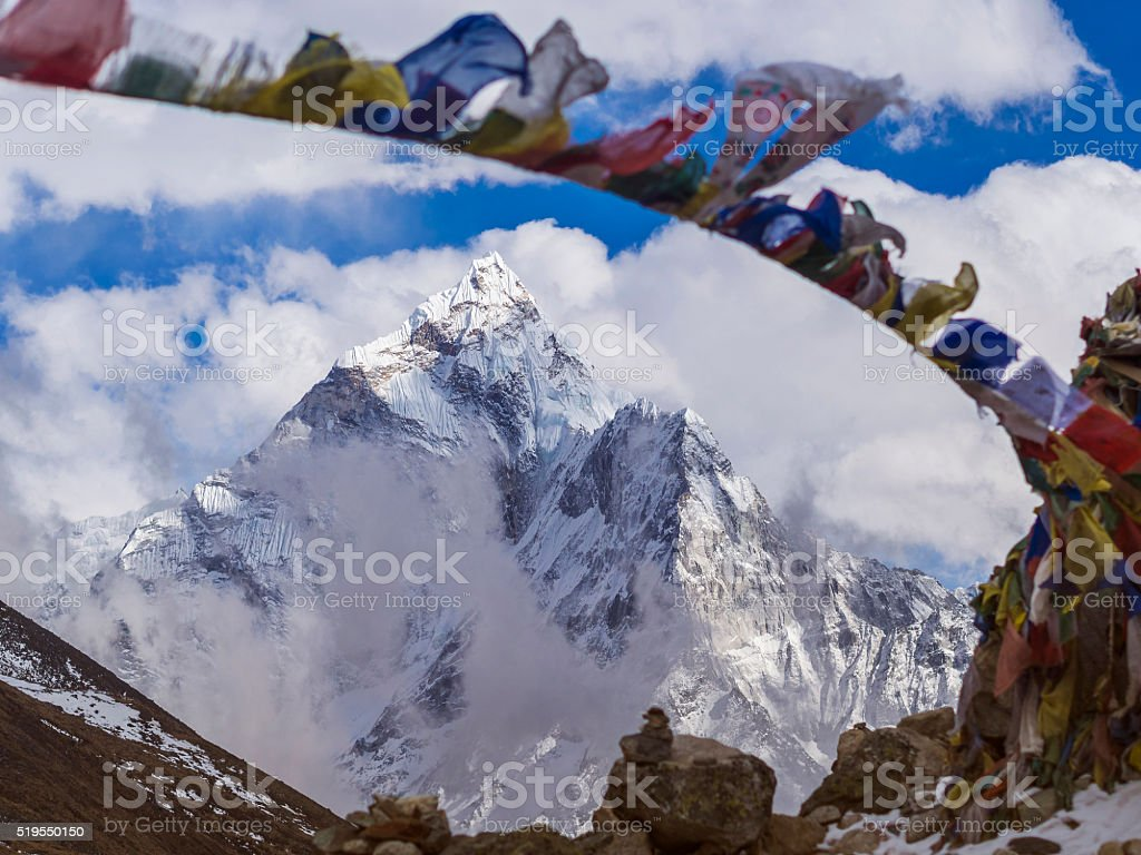 Mount Ama Dablan in the Nepal Himalaya stock photo