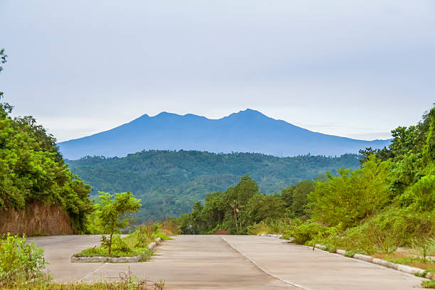 Mount Apo view, Davao, Philippines View of Mount Apo taken from Davao City, the largest mountain in The Philippines. apothegm stock pictures, royalty-free photos & images