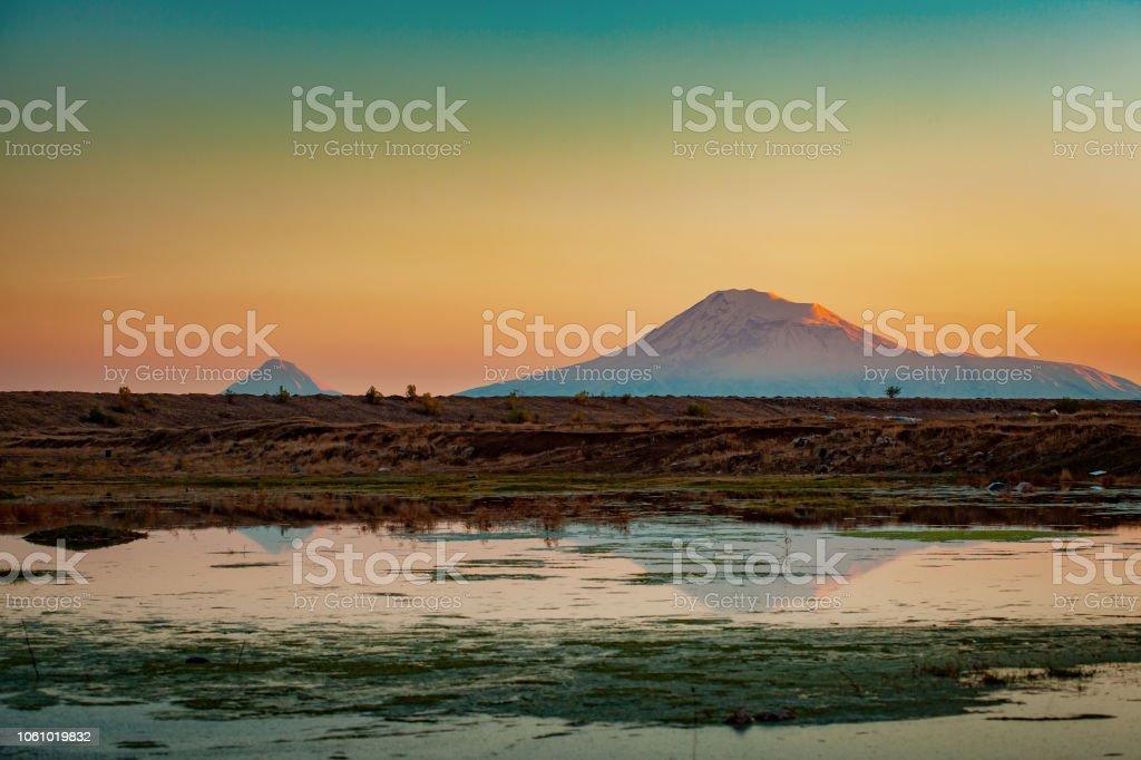 mount Ararat in Armenia stock photo