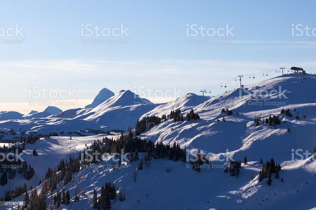 Mount Assiniboine Sunshine Village Ski Resort royalty-free stock photo