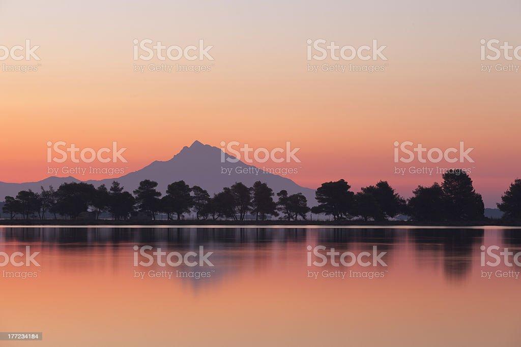 Mount Athos Sunrise royalty-free stock photo