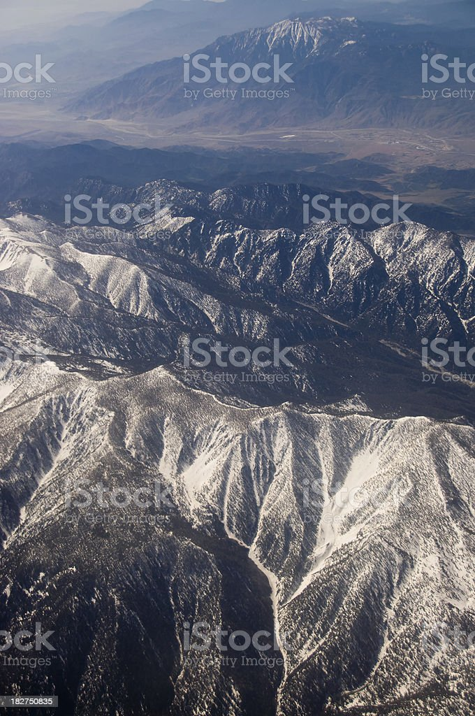 mount Baldy aerial view stock photo