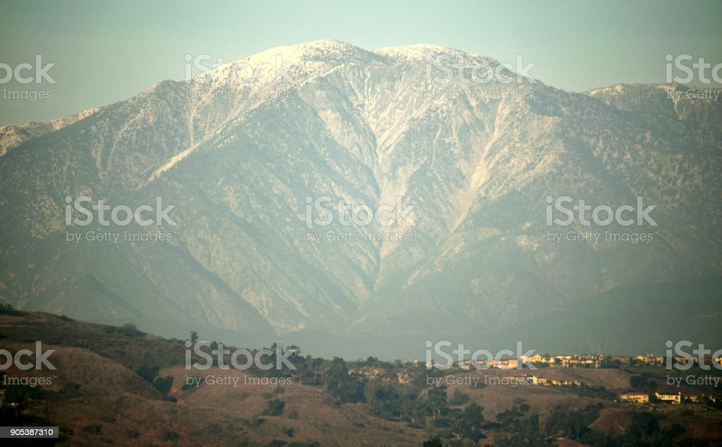 Mount Baldy at Golden Hour stock photo