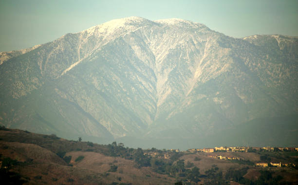 Mount Baldy at Golden Hour A snapshot of the San Gabriel Mountains' highest peak as seen from Los Angeles County, California. mount baldy stock pictures, royalty-free photos & images