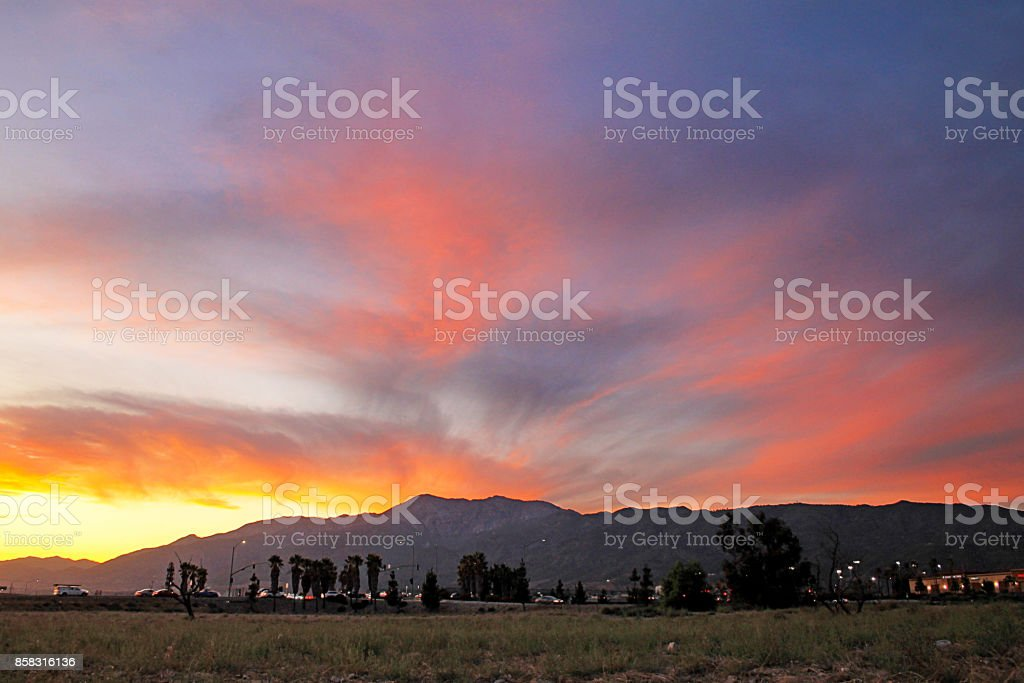 Mount Baldy Fontana 9-17 stock photo