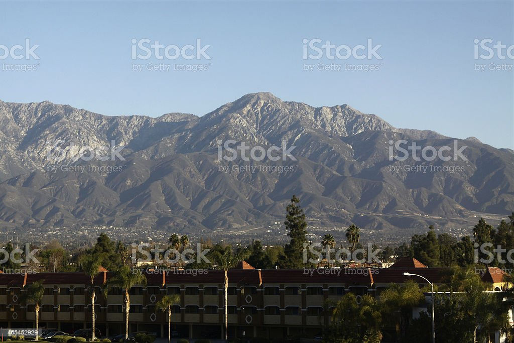 Mount Baldy From Ontario California stock photo