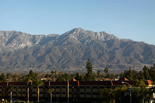 Mount Baldy From Ontario California Mount Baldy from Ontario California mount baldy stock pictures, royalty-free photos & images