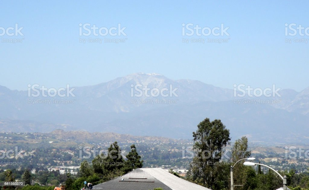 Mount Baldy in the Distance stock photo