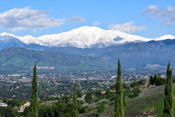 Mount Baldy Looms in the Distance stock photo