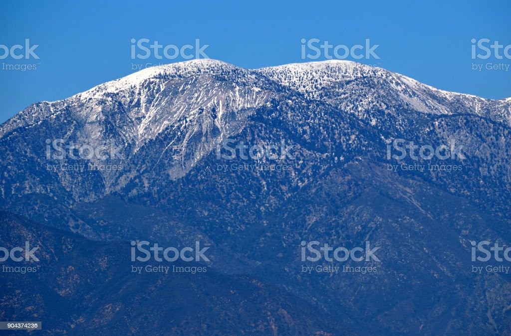 Mount Baldy On A Clear Sunny Day stock photo