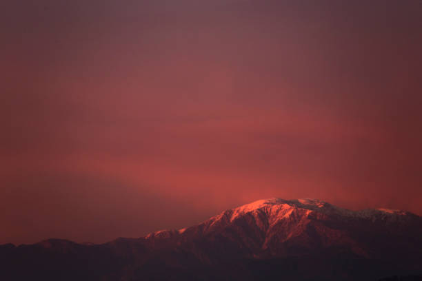 Mount Baldy Sunset view of Mount Baldy. mount baldy stock pictures, royalty-free photos & images