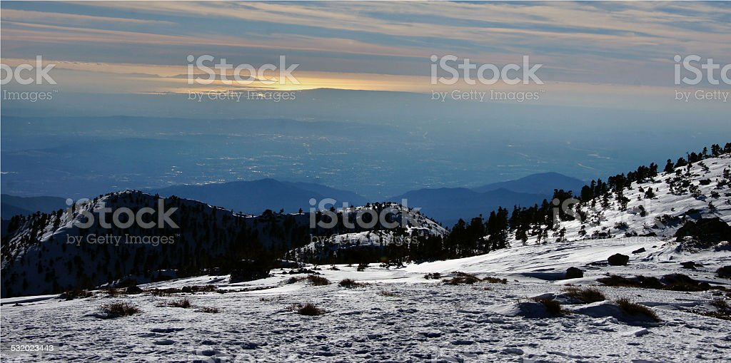 Mount Baldy Summit stock photo