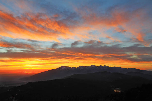Mount Baldy Sunset 2-17 stock photo