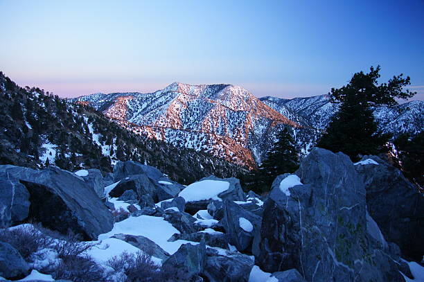 Mount Baldy Sunset On the way down from Mount Baldy Summit at Sunset. mount baldy stock pictures, royalty-free photos & images