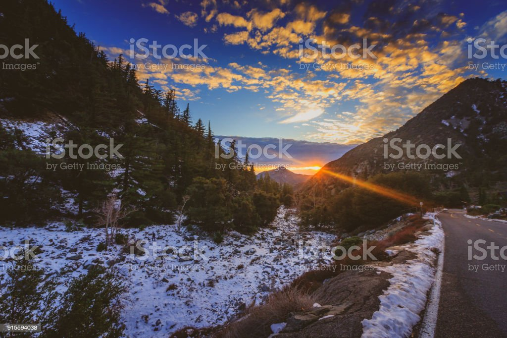 Mount Baldy Sunset stock photo