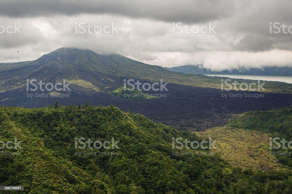 Mount Batur Volcano royalty-free stock photo