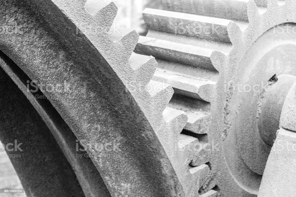Mount Beacon Incline Railway gear close up stock photo
