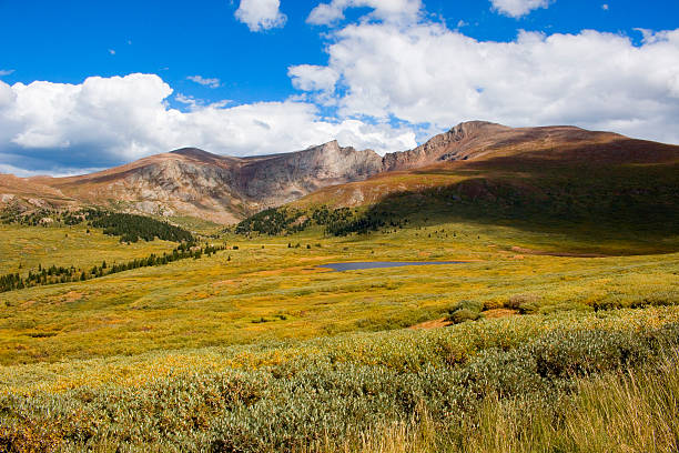 Mount Bierstadt in the Arapahoe National Forest stock photo