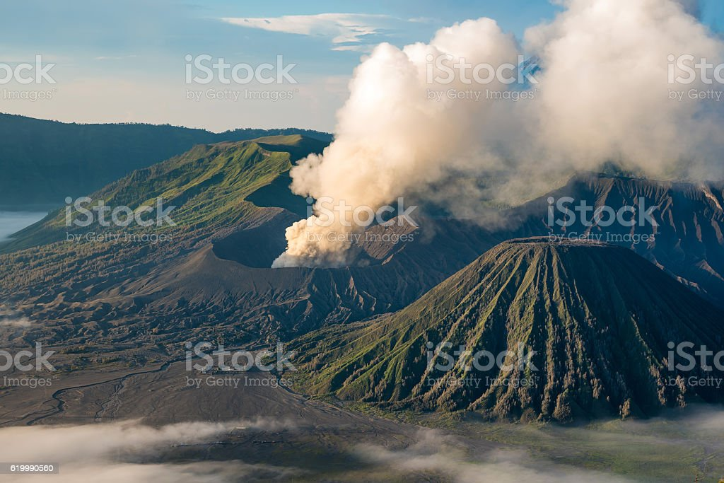 Mount Bromo , East Java , Indonesia at Dawn stock photo