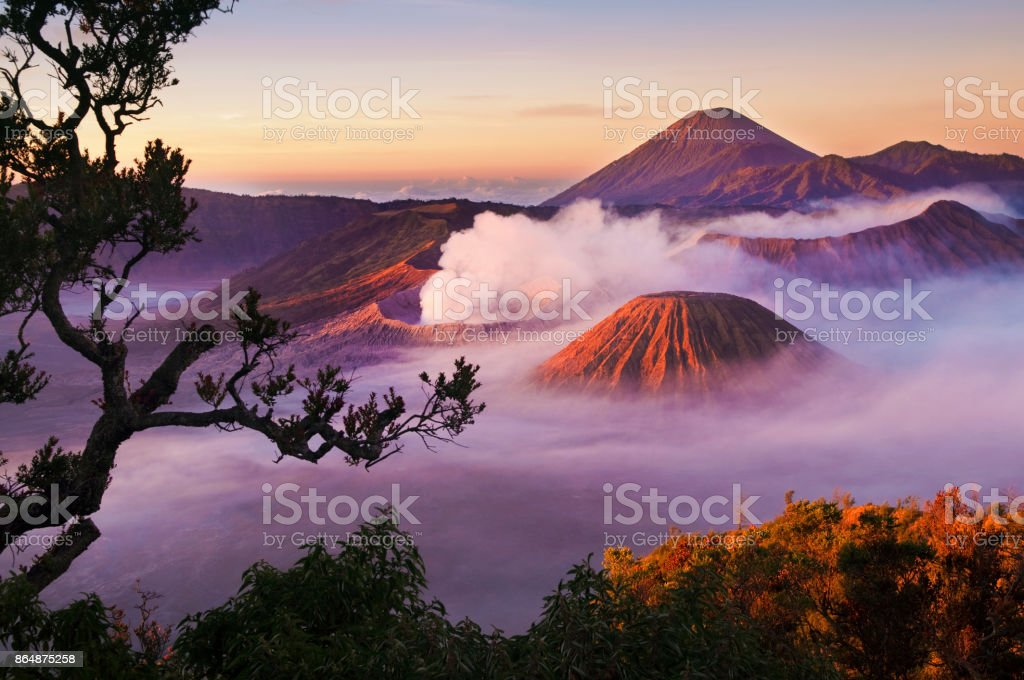 Mount Bromo Indonesia stock photo