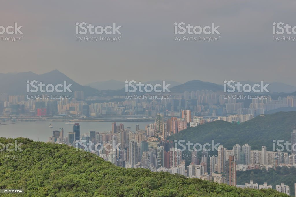 Mount Cameron view of Causeway Bay Lizenzfreies stock-foto