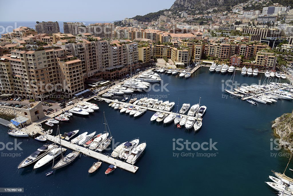 Monte Carlo harbour. royalty-free stock photo