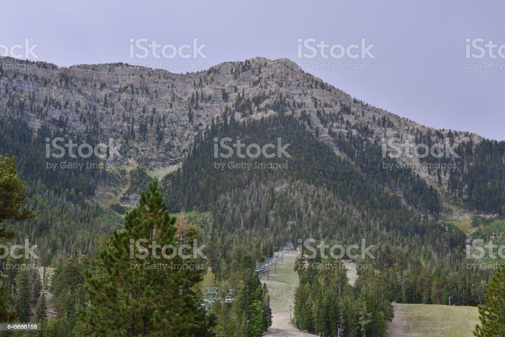 Mount Charleston in Nevada USA. stock photo