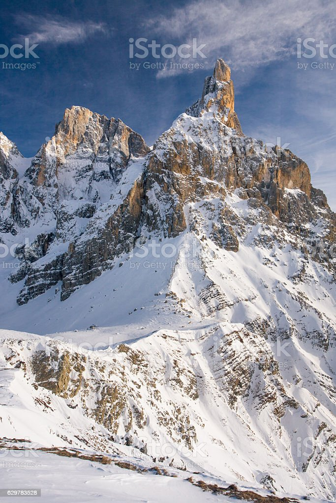 Monte Cimon della Pala, Pale di San Martino, Dolomiti stock photo