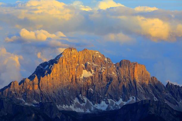 Monte Civetta von idyllischen Lagazuoi Gipfel Panorama, Cinque Torri Dolomiten, Zinnen Bergkette, dramatische und majestätischen Italien Tirol Alpen – Foto
