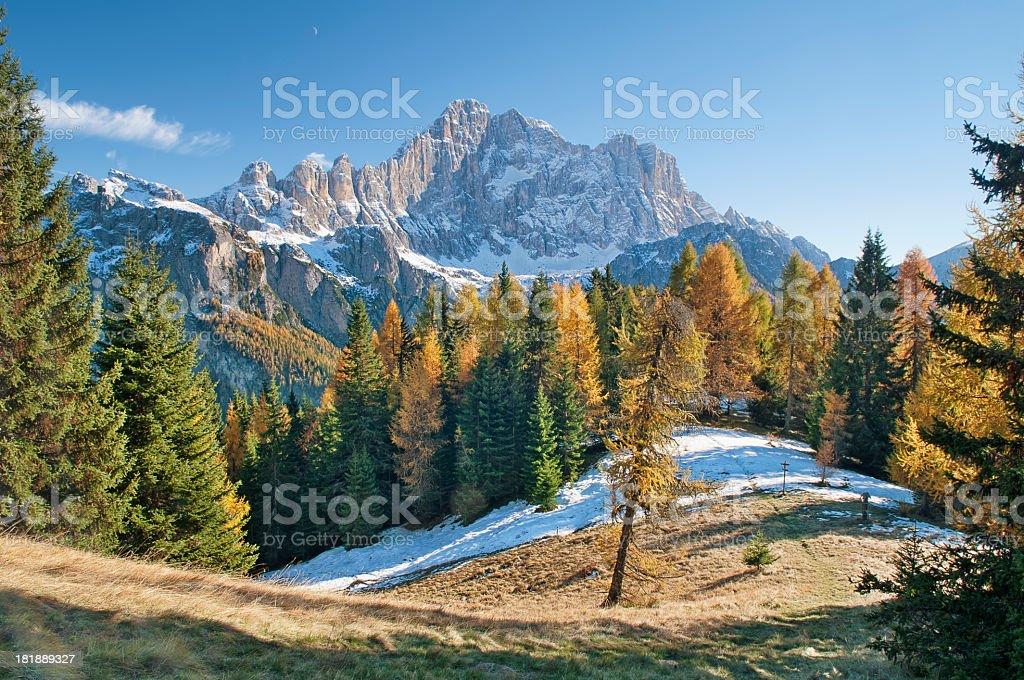 Mount Civetta stock photo