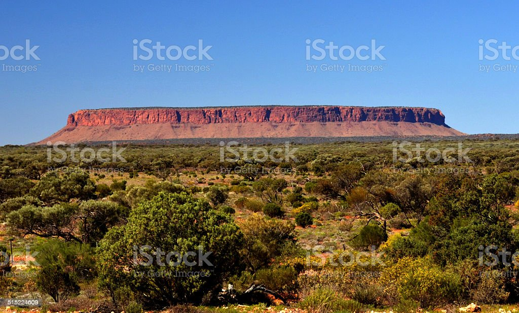 Mount Connor in Australian OutBack stock photo