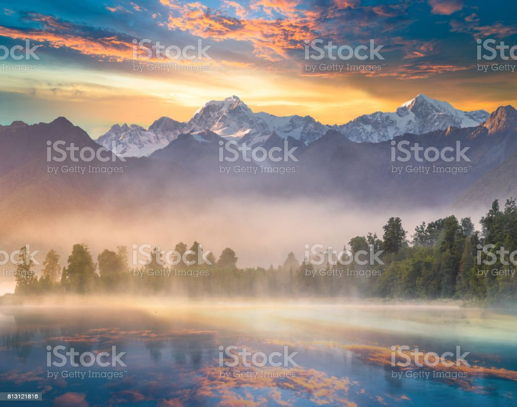 Mount Cook und Lake Matheson Neuseeland – Foto