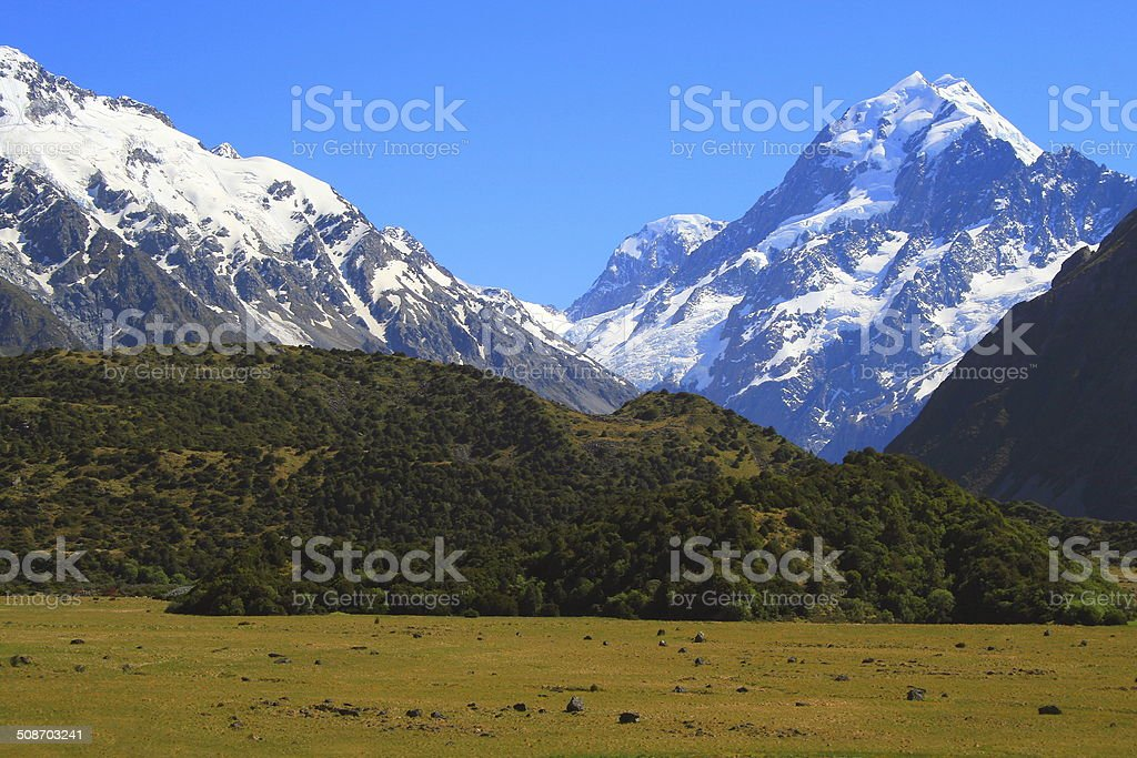 Mount Cook - Mount Cook National Park, South Island, New Zealand stock photo