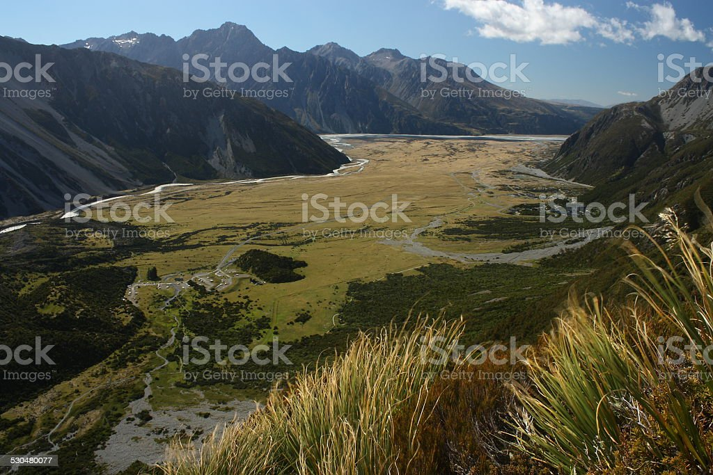 Mount Cook National Park stock photo