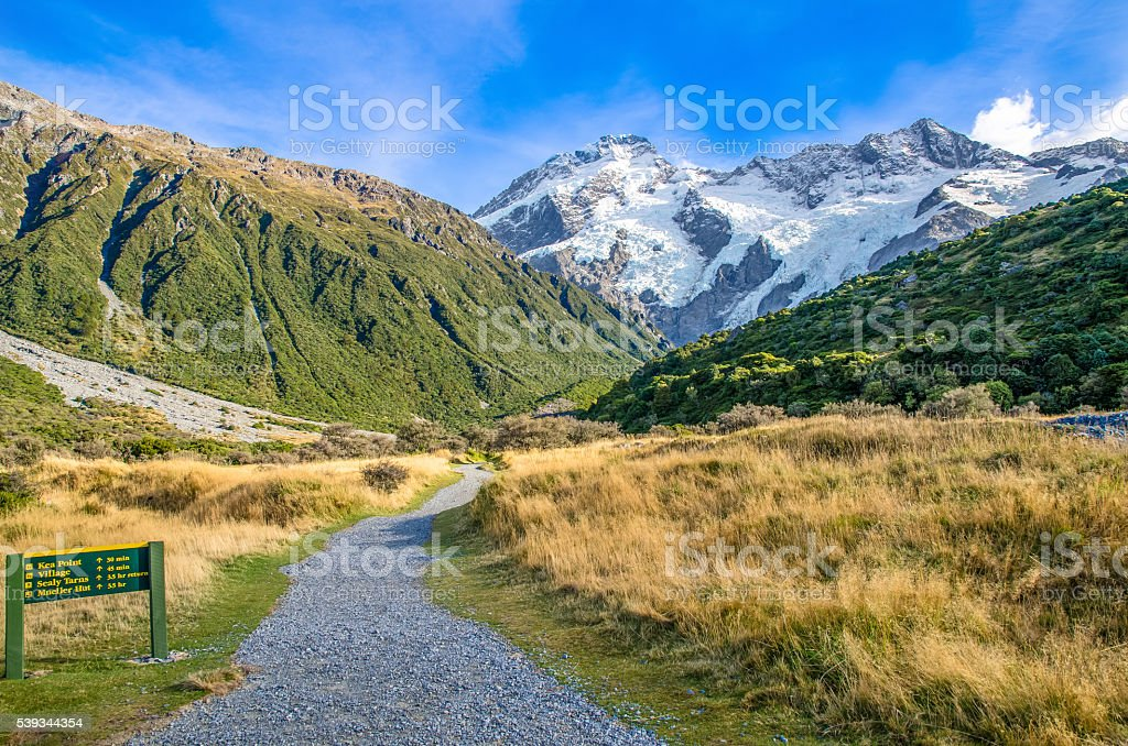 Mount Cook National Park,New Zealand stock photo