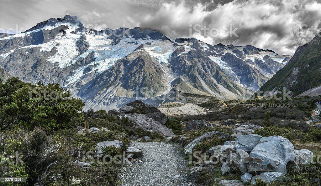 Mount Cook New Zealand stock photo