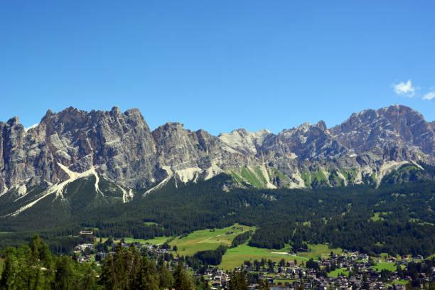 Mount Cristallo dominates Cortina D'Ampezzo