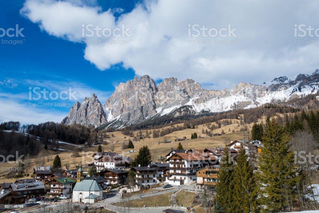 Mount Cristallo near Cortina d'Ampezzo - foto stock