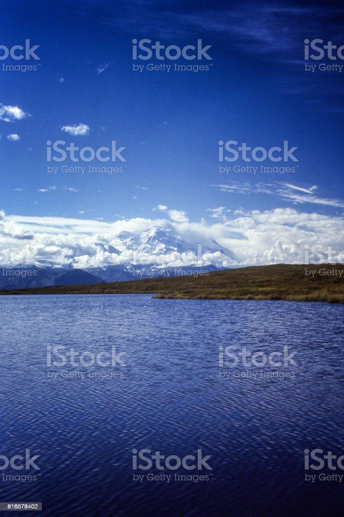 Mount. Denali and Wonder Lake stock photo