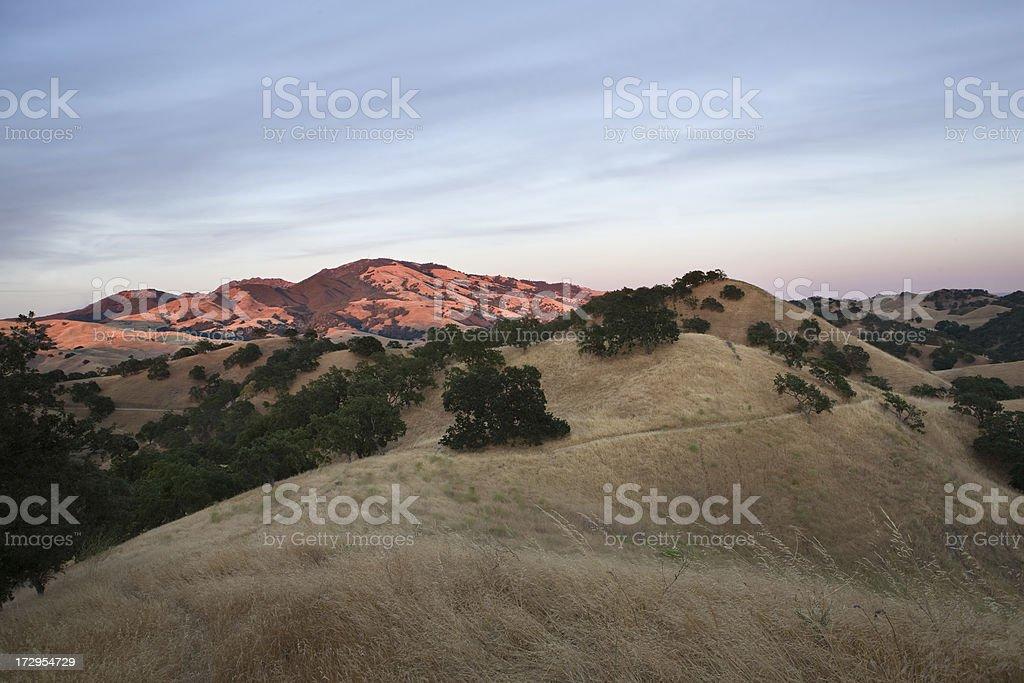 Mount Diablo Sunset royalty-free stock photo