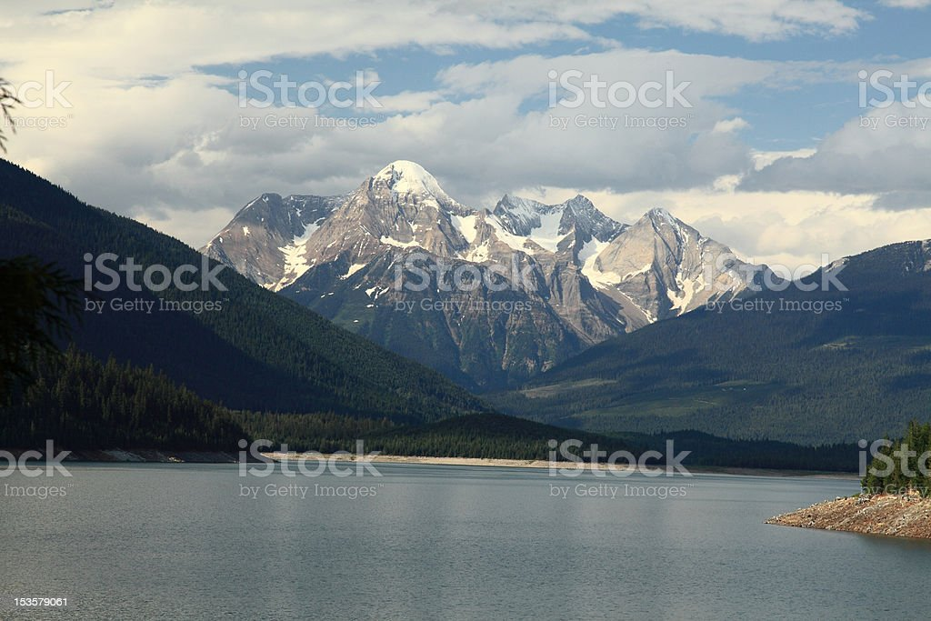Mount Dunkirk and Kinbasket Lake, north of Revelstoke, B.C. Canada. stock photo