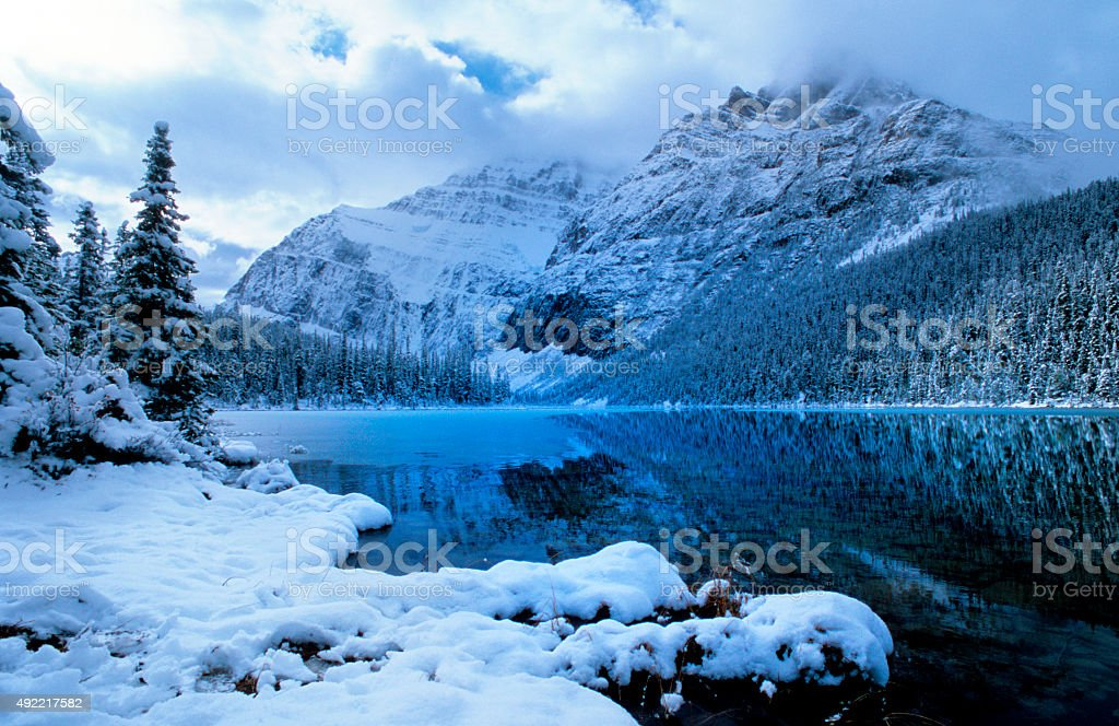 Mount Edith Cavell, Canadian Rockies stock photo