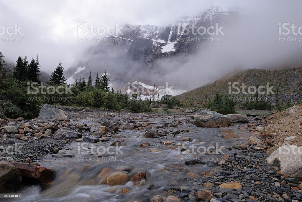 Mount Edith Cavell in Canadian Rockies royalty-free stock photo