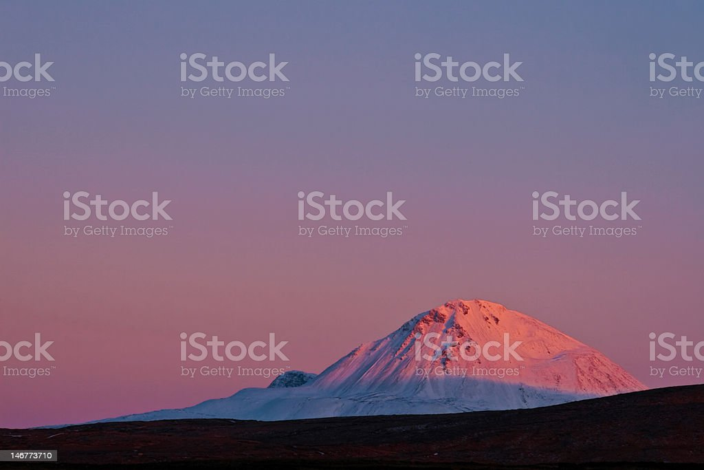 Mount Errigal at Sunset stock photo