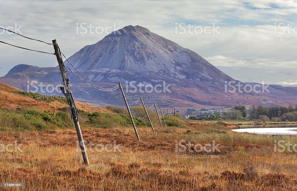 Mount Errigal in Donegal, Ireland stock photo