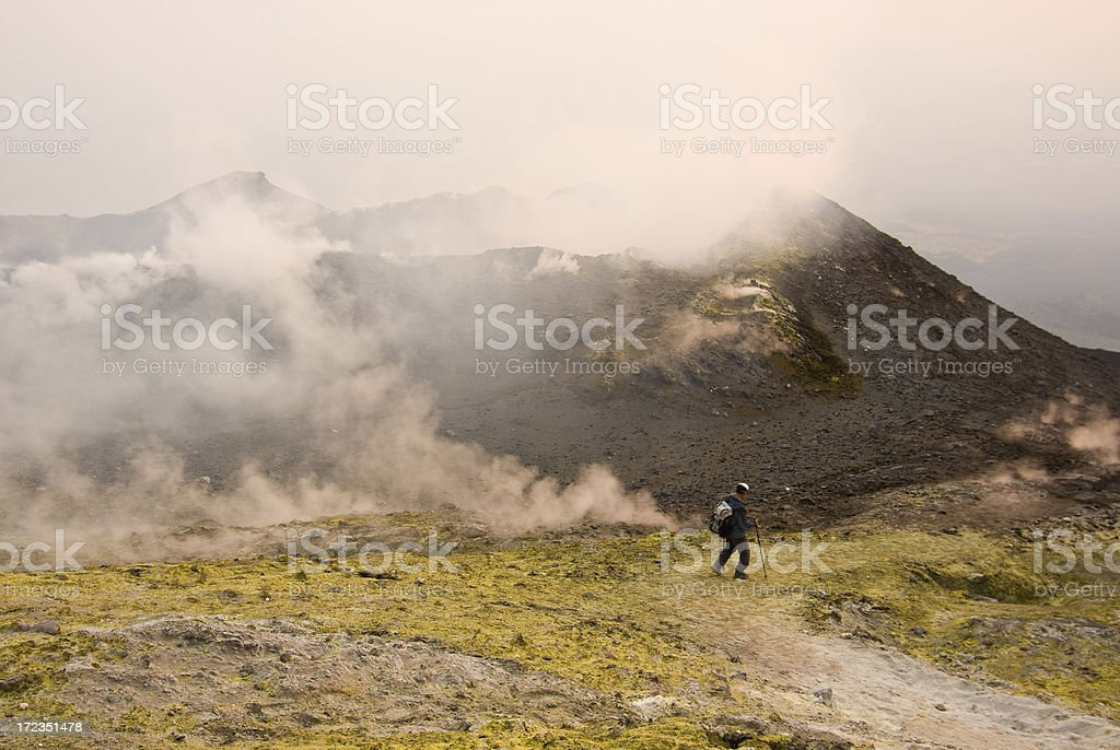 Mount Etna Excursion royalty-free stock photo