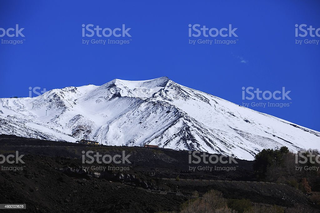 mount Etna zbiór zdjęć royalty-free