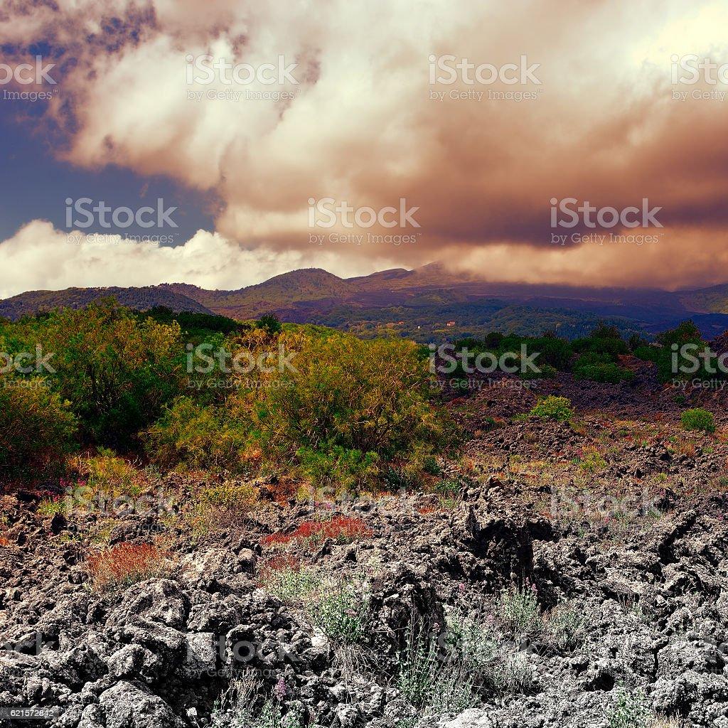 Mont Etna photo libre de droits