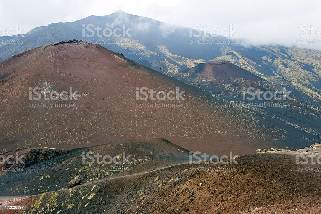 Mount Etna, Sicily, Italy royalty-free stock photo
