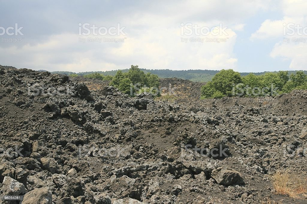Mount Etna, Sicily royalty-free stock photo